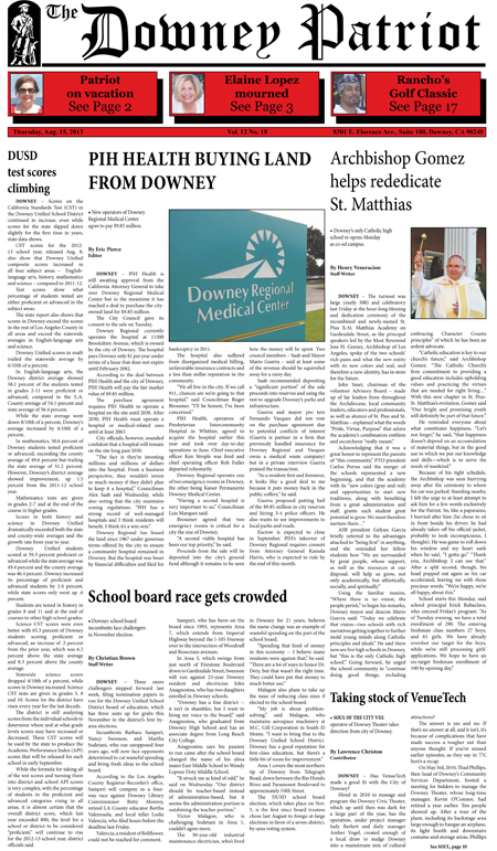Vol. 12, No. 18, August 15, 2013