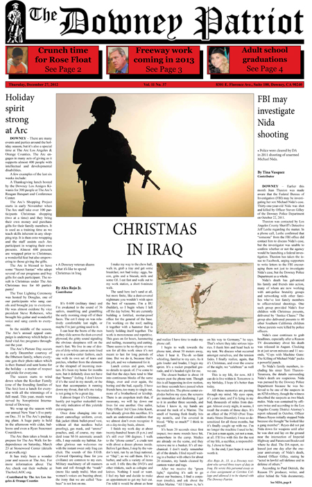 Vol. 11, No. 37, December 27, 2012