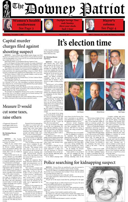 Vol. 11, No. 29, November 1, 2012