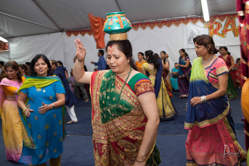 Dancers perform during the Radha Krishna Mandir temple's 2012 Raas Garba festival. Residents and local property owners have protested the temple's plans to expand.