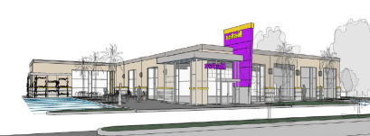 An artist's rendering of the new Planet Fitness in Downey.