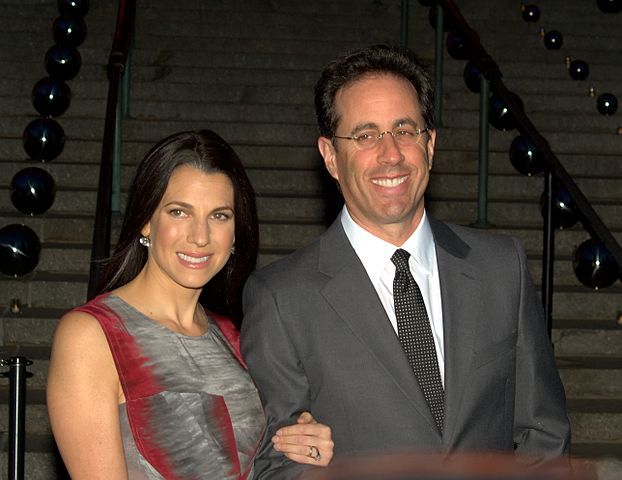 Jerry Seinfeld and his wife, Jessica. Photo by David Shankbone. Licensed under CC BY 3.0 via Wikimedia Commons