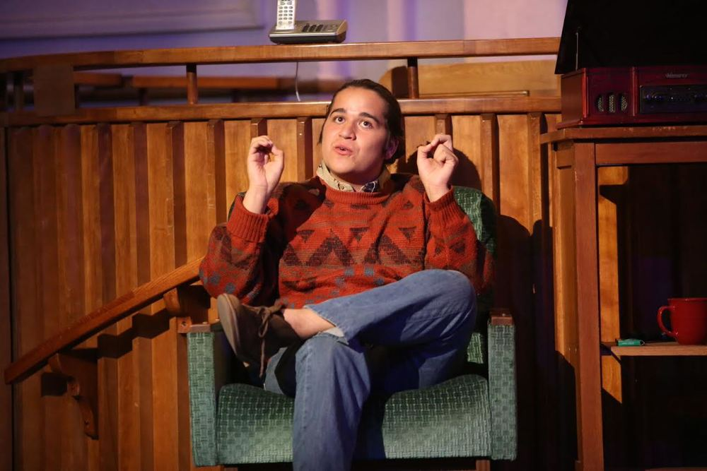 "Anthony Ayala performs as Man in Chair in the Santa Fe High School production of ""The Drowsy Chaperone."" The talented Ayala in June was recognized as one of 2015's top three high school monologists at the International Thespian Festival held in Lincoln, Nebraska."