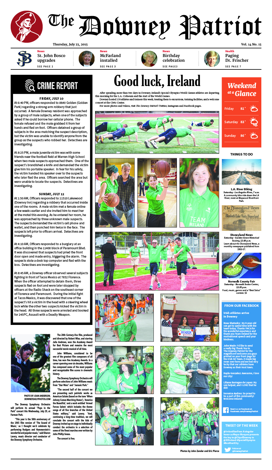 VOL 14, NO 15, JULY 23, 2015