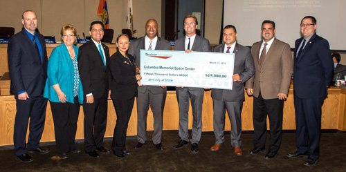 Aerojet Rocketdyne has contributed $15,000 to sponsor the Columbia Memorial Space Center's City of STEM Science Festival scheduled to take place April 6-11. The contribution makes Aerojet Rocketdyne the lead sponsor of City of STEM, a six-day STEM festival that is the first of its kind of the Los Angeles region. During the week of April 6, the space center will present STEM (science, technology, engineering and math)  For more details, go to columbiaspacescience.org