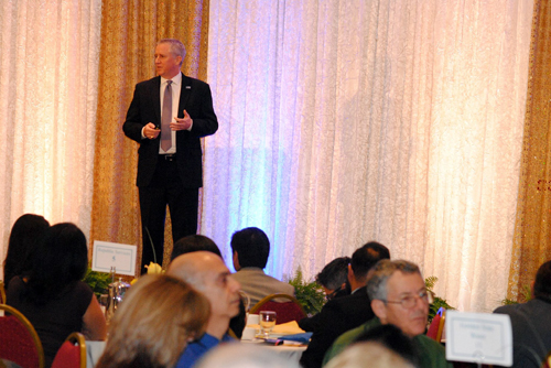 Norwalk city manager Mike Egan delivers Norwalk's state of the city address.