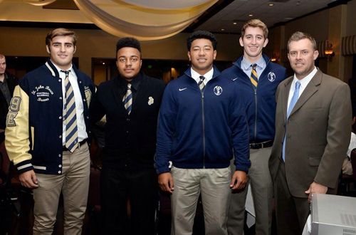 St. John Bosco players at a CIF championship luncheon.