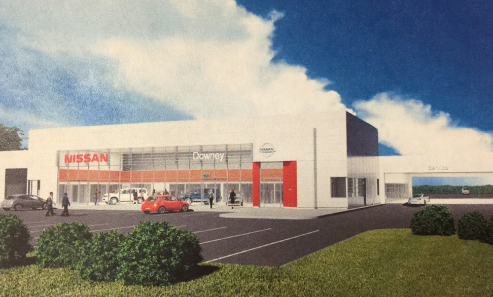 A rendering of the new Downey Nissan.