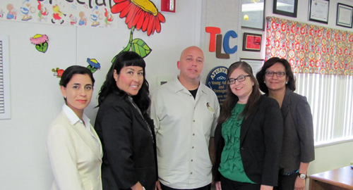 TLC staff members Olivia Gutierrez, Lori Roman, Dr. Robert Jagielski, Claudia Garcia and Luz Perez