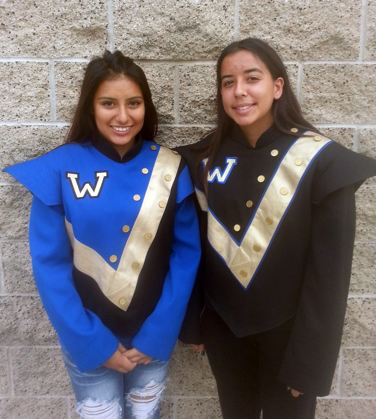 Sarah Gonzalez, left, and Natalie Resendez will perform in the Tournament of Roses Parade on Jan. 1. Photo by Valerie Aguilar