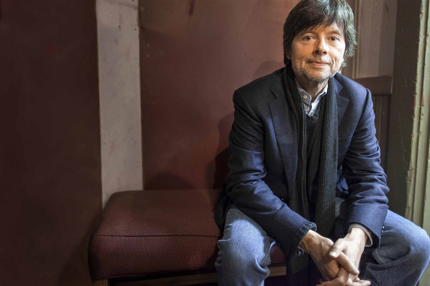 "Ken Burns waits backstage at the Latchis Theater's celebration of their recent renovations on October 19th in Brattleboro, VT.  Ken was there to speak about and show a segment from his upcoming documentary ""The Roosevelts: an Intimate History."""