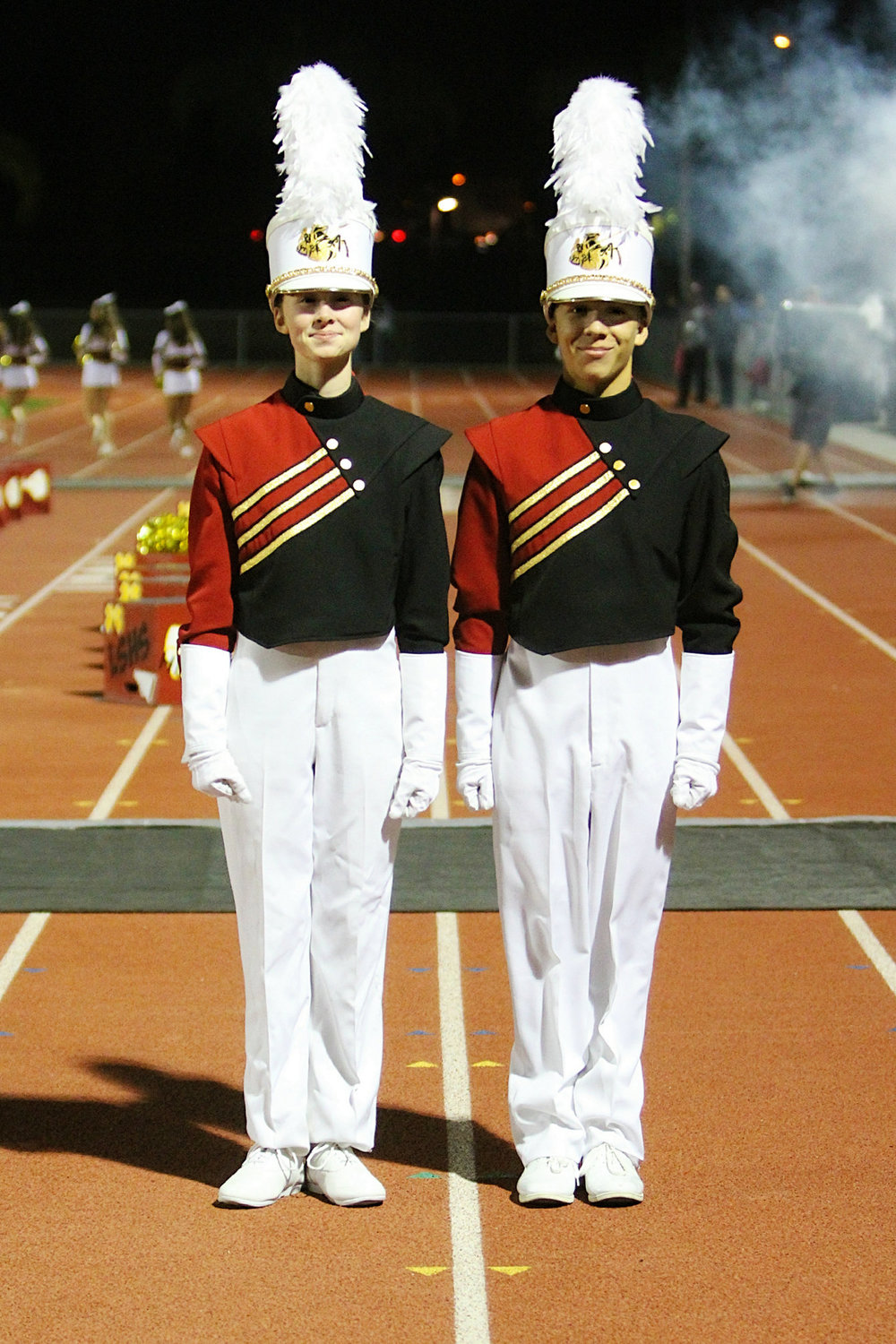 La Serna High School band students Avery Smith (alto sax), left, and Taylor Medina (trombone) will perform in the 2016 Tournament of Roses Honor Band.