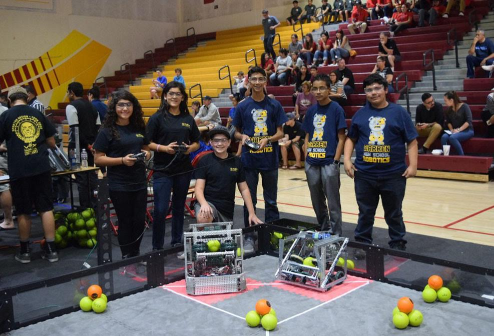 The Spartan Design Alpha team from Stauffer Middle School finished fourth in a robotics competition last month.