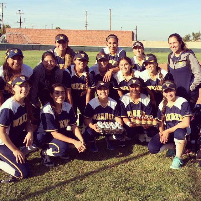 Jocelyn Hernandez and Nina Garcia combined for a seven-hitter as Warren High girls softball beat Santa, 6-2, on Tuesday. Ashley Machado led the Bears offense, going 4 for 4 with a homerun, two doubles and two RBIs. Jocelyn Hernandez went 3 for 3 with a single and two doubles. Photo courtesy Warren High