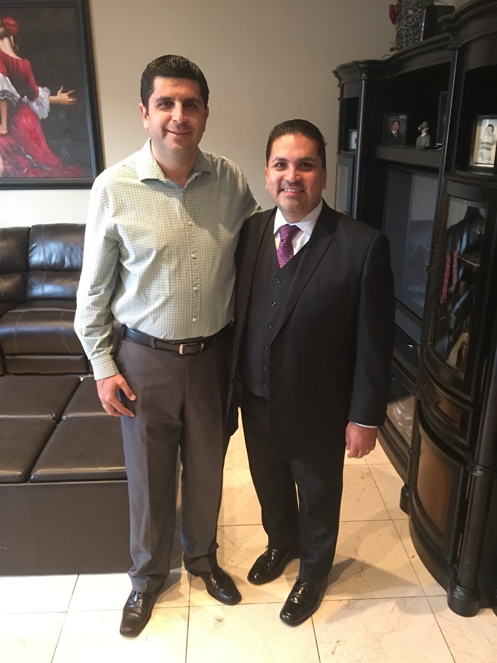 Efrain Aceves, right, with Lino Bastida Gutierrez, an attorney from Mexico.