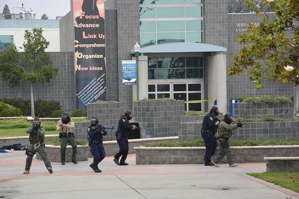 Cerritos College hosted an active shooter drill Friday. Courtesy photo