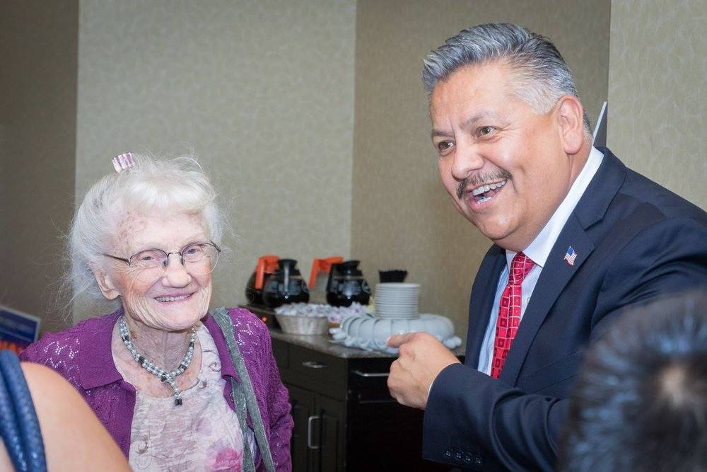 Dr. Mary Stauffer and Rick Rodriguez. Photo by John Zander