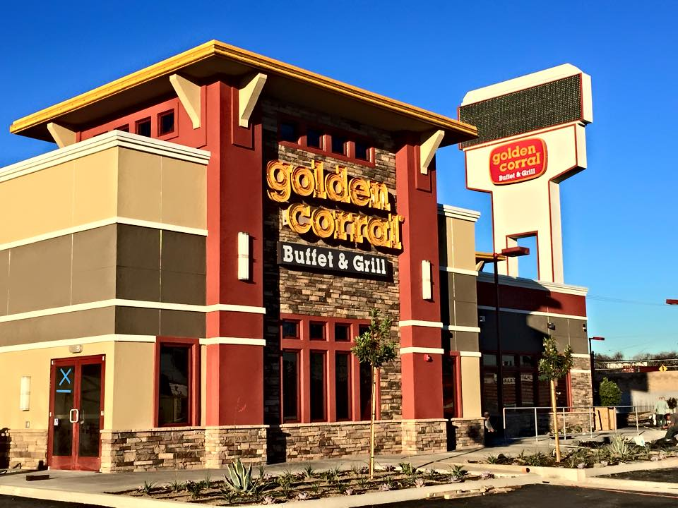 Golden Corral in Bellflower.