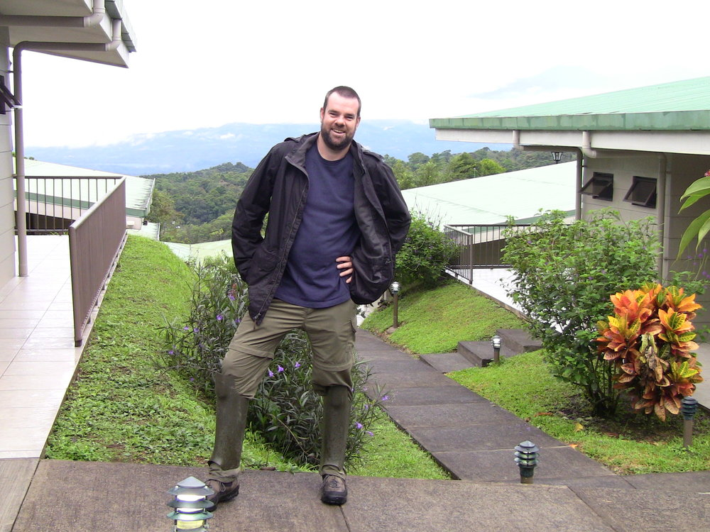 Santa Fe High School science teacher Brett Stratton takes in the view at the Soltis Center For Research & Education in San Isidro, Costa Rica. Stratton completed a two-week study program designed to help educators take inquiry-based studies back to their students.