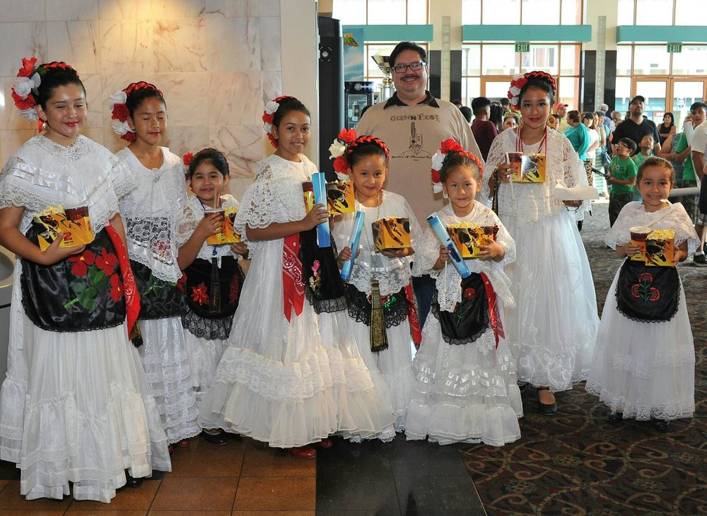 Members of Danza Folklorica Amor Eterno who performed at the Krikorian last year at a special film screening for children and young adults with special needs.  The group is returning again to perform this Saturday.