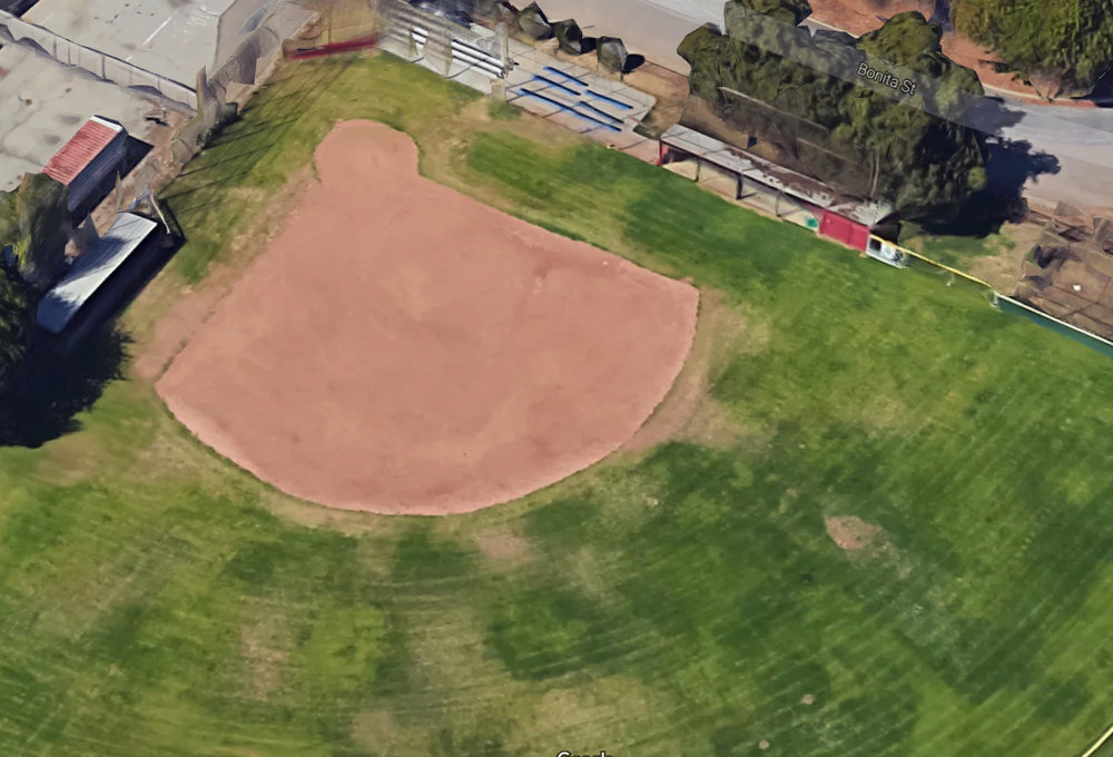 St. Pius X-St. Matthias Academy's baseball diamond. Google image
