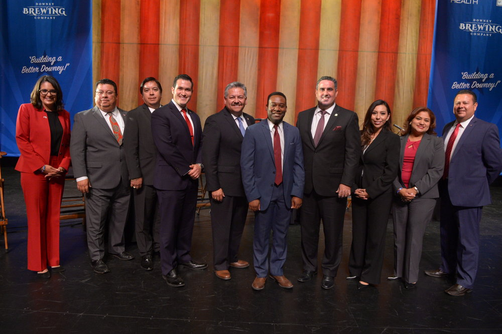From left: Blanca Pacheco, Hector Lujan, Art Gonzalez, Art Montoya, Rick Rodriguez, Christian Brown, Alex Saab, Frine Medrano, Alma Marquez and Louis Morales.