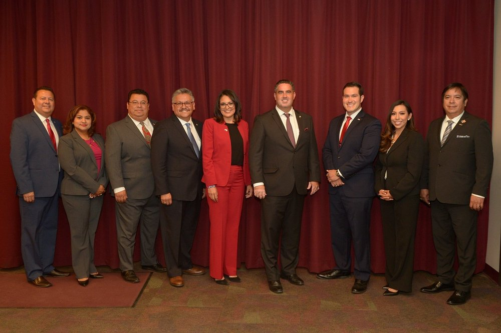 From left: Louis Morales, Alma Marquez, Hector Lujan, Rick Rodriguez, Blanca Pacheco, Alex Saab, Art Montoya, Frine Medrano and Art Gonzalez.