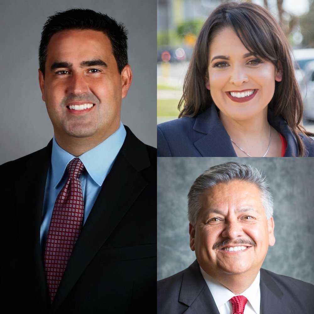 From left, clockwise: Alex Saab, Blanca Pacheco and Rick Rodriguez
