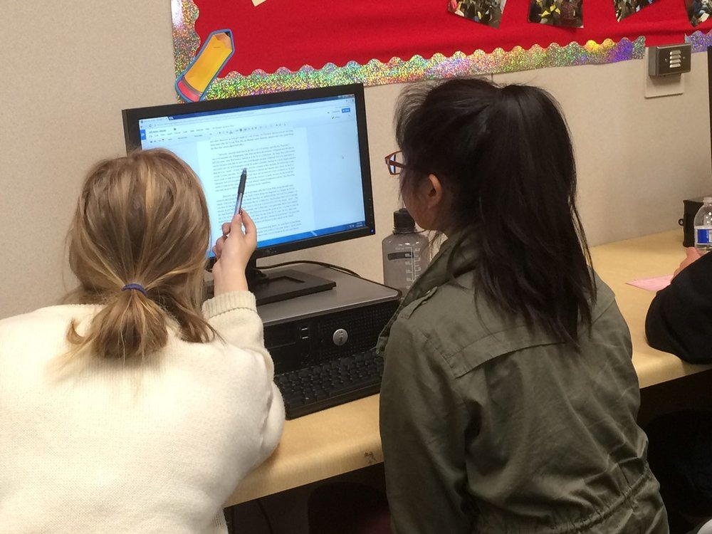 Downey High's Writing Center opened in 2013, where students get tutored by fellow classmates.