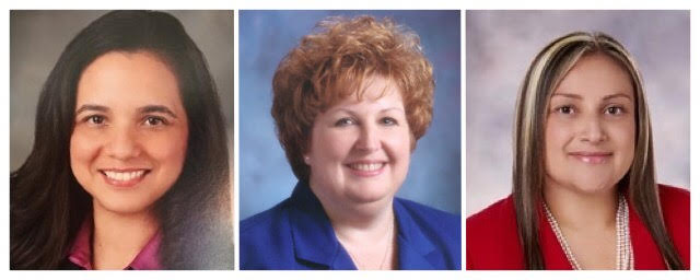 Norwalk-La Mirada schoo board member Margarita L. Rios, Norwalk Vice Mayor Cheri Kelley, and Cerritos College trustee Dr. Sandra Salazar all pulled nomination papers to run for city council.