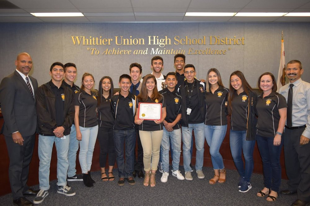 Santa Fe High School senior Valeria Restrepo is the only student on the current ASB cabinet to have participated all four years of high school, helping to bring cheer to the campus while maintaining a rigorous course schedule. She was recently honored with an Award of Merit from the Whittier Union High School District Board of Trustees.