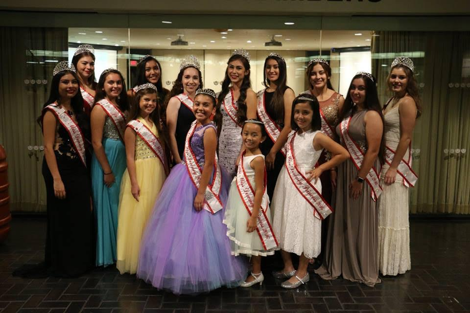 "The Miss Downey 2016 Royal Court, pictured here at the Downey Christmas Parade, was pinned by Downey city officials in November.   Miss Downey Emely Lopez, Princess Christina Ledezma, Princess Hannah Handers, Princess Senovia Villatoro and Princess Linden Hausmann, Miss Teen Downey Marissa Padilla, Princess Giselle Garcia, Princess Ashley Rivas, Princess Michelle Vilarino, Junior Miss Downey Ava Melsh-Fountain, Princess Laila Sabir, Princess Jacqueline Rodriguez and Little Miss Downey Mia Vargas, Princess Celine Bautista and Princess Madeline Saldana. Miss Downey Royalty represent the  Downey Rose Float Association at many city and chamber of commerce events, in addition to raising funds for the entry in the 2017 Tournament of Roses Parade, ""The Gold Rush."" Photo by Pam Chambers"