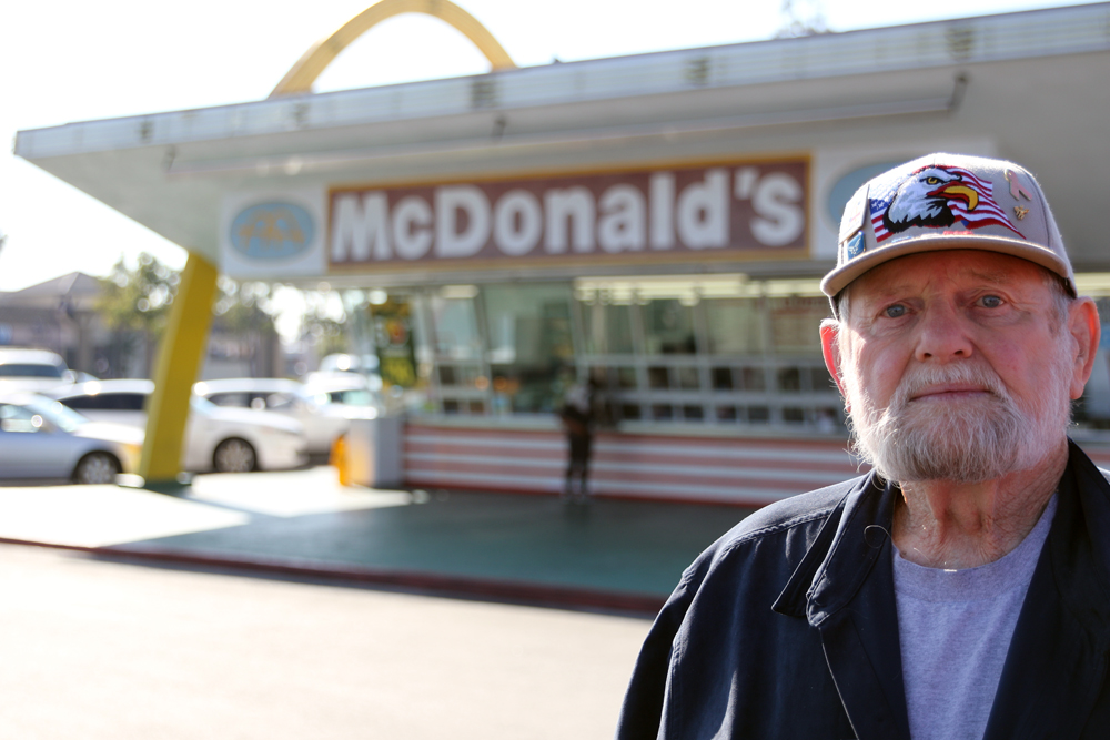 Don Herlinger was 16 when he was hired at the Speedee McDonald's in 1953. Photo by Eric Pierce
