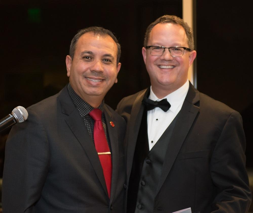 State Sen. Tony Mendoza with 2017 SEDBA President Mark Gibbons.