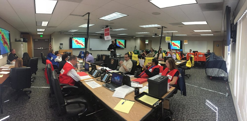 City employees undergo training at Downey's Emergency Operations Center, located at Fire Station No. 1.