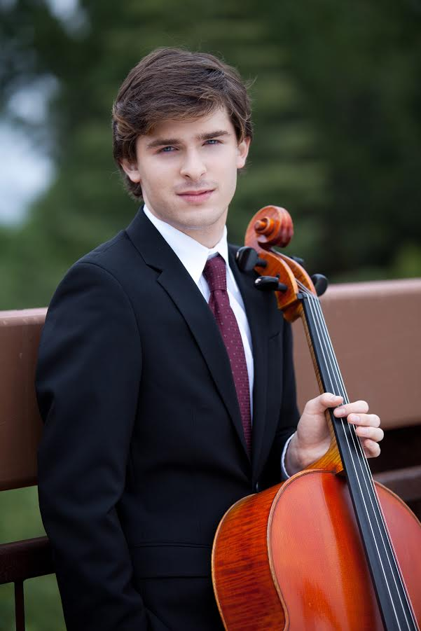 Benjamin Lash, a talented 26-year-old cellist, will perform at the April 8 concert at the Downey Theatre.