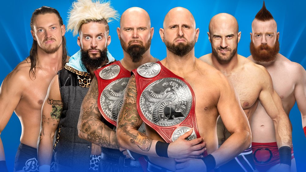 1e76d72776 Ladder Match for the Raw Tag Team Titles: Sheamus and Cesaro vs Enzo Amore  and Big Cass vs The Club (c)