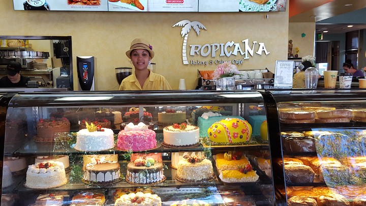 Martha Reinoso at the specialty cake section of the Tropicana.