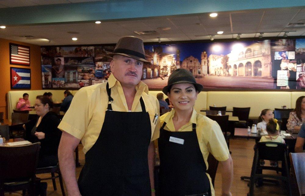 Mayra Menjivar and Lalo Loza at the Tropicana restaurant.