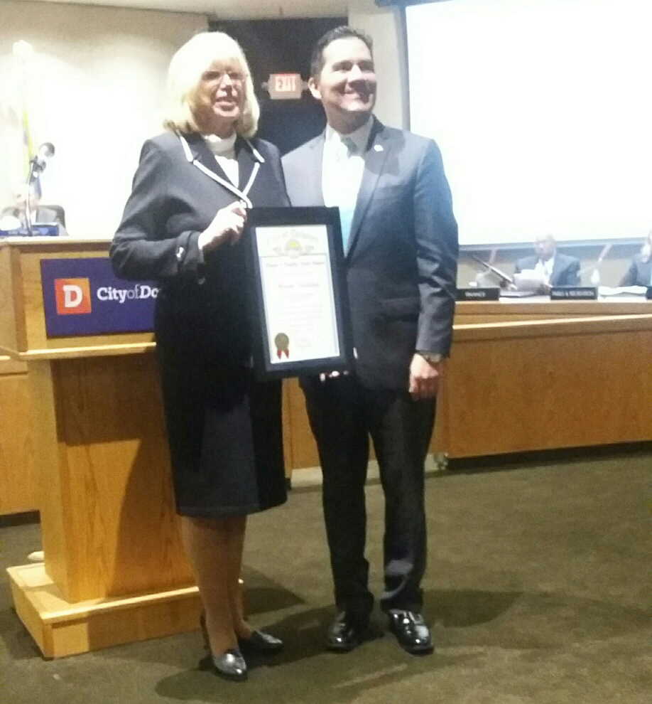Martha Sodetani and Mayor Fernando Vasquez. Photo courtesy Denise Juarez