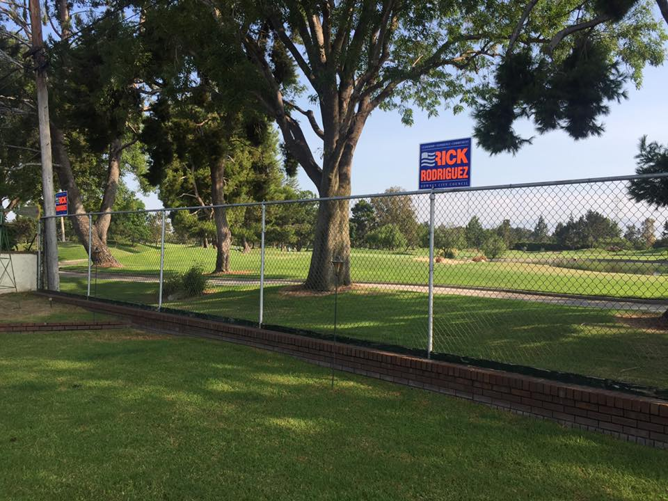 Councilman Rick Rodriguez's backyard at the 7th hole of the Rio Hondo Golf Club. Facebook photo