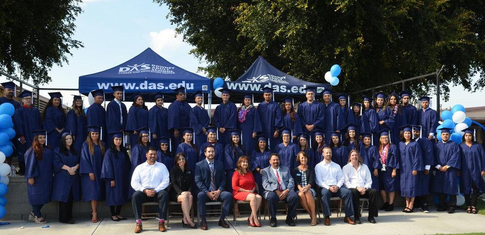 Downey Adult School's 2017 graduating class.
