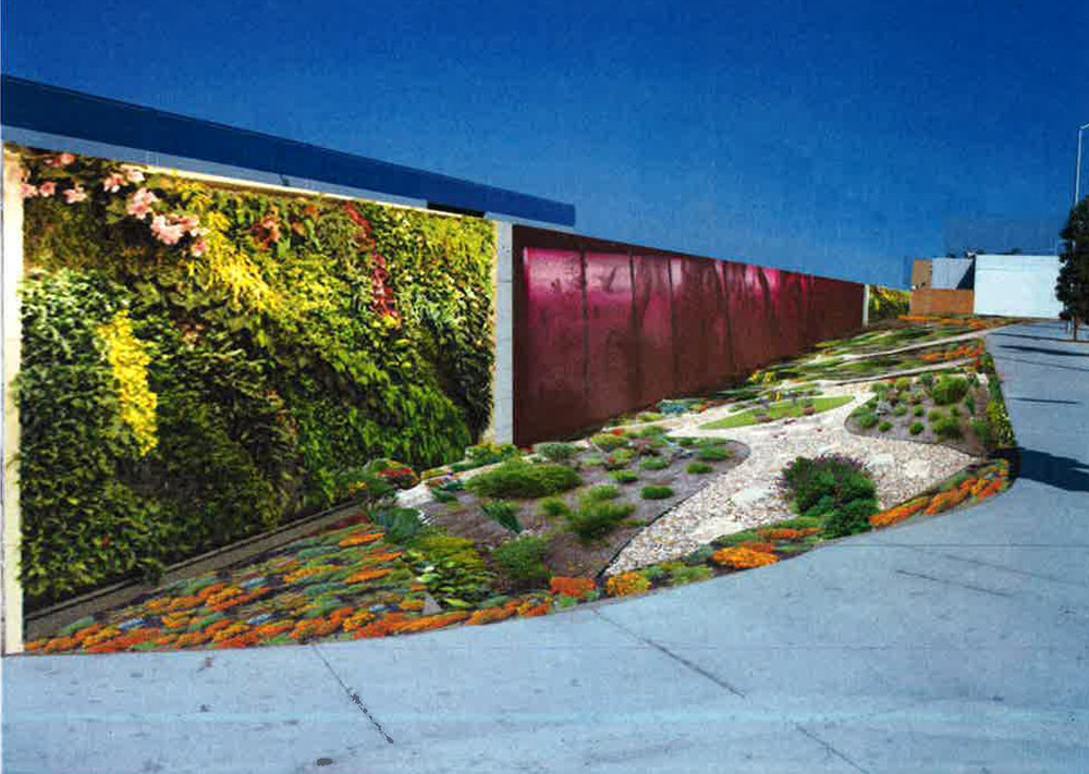 A rendering of the public art project at Paramount and Firestone boulevards, approved by the City Council last week.