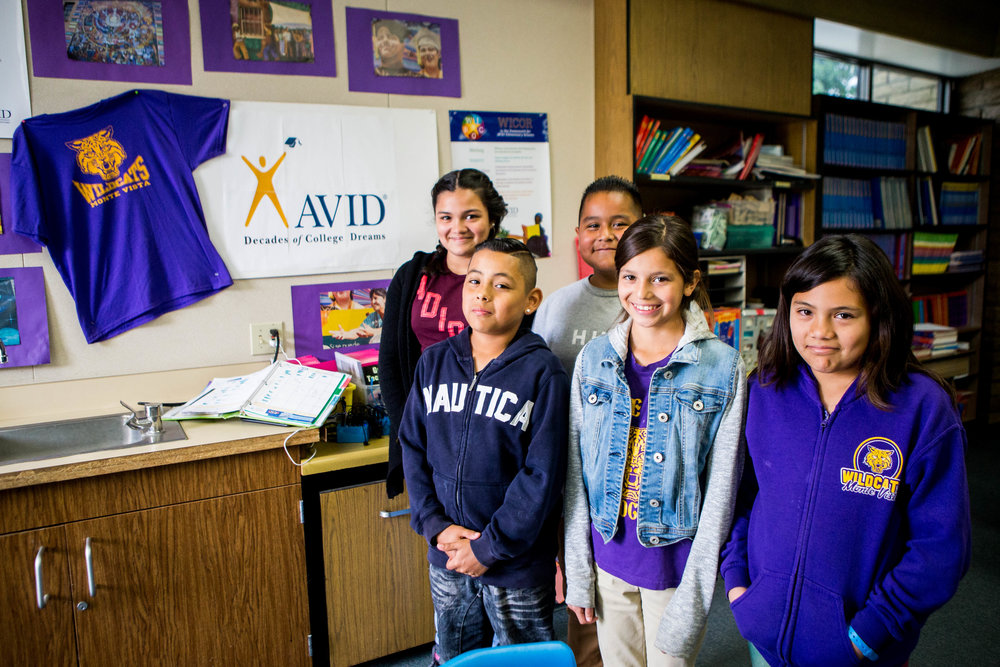 Monte Vista Elementary School is South Whittier's only elementary school to incorporate instructional and learning strategies at the core of one of the country's foremost college readiness programs, AVID.