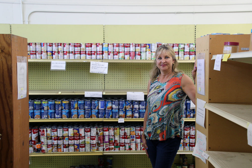 Longtime community volunteer Dorothy Pemberton has taken over director duties at the PTA HELPS food pantry. Photo by Alex Dominguez