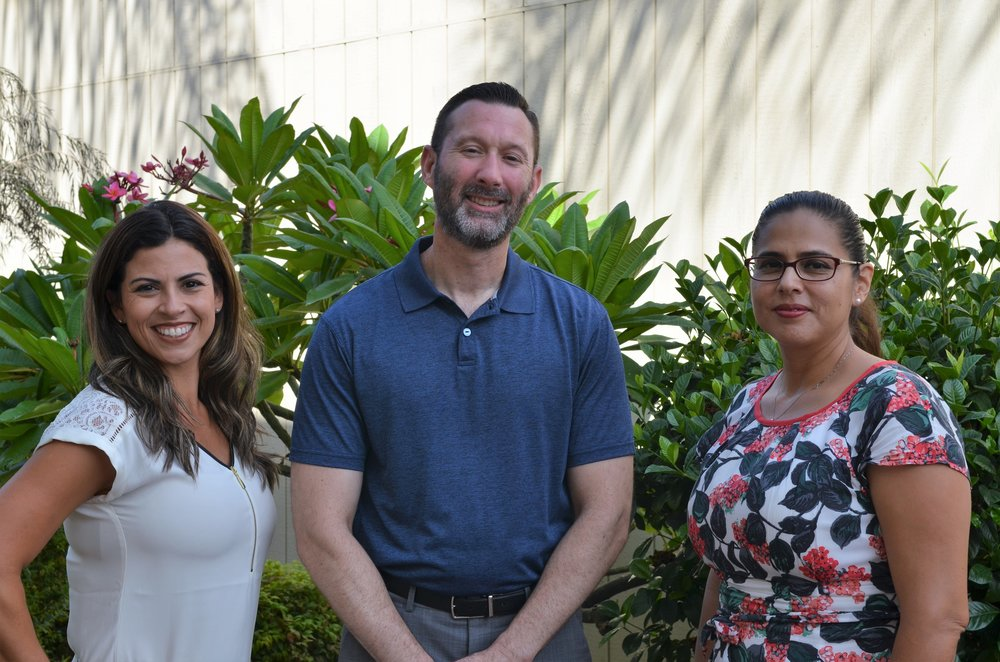Dr. Kathy Estevez (left) will be the new principal of Gallatin Elementary School and David Cid (center) will the new principal at Rio San Gabriel Elementary School. Downey Unified has also welcomed a new Director of Special Education, Dr. Patricia Sandoval (right).