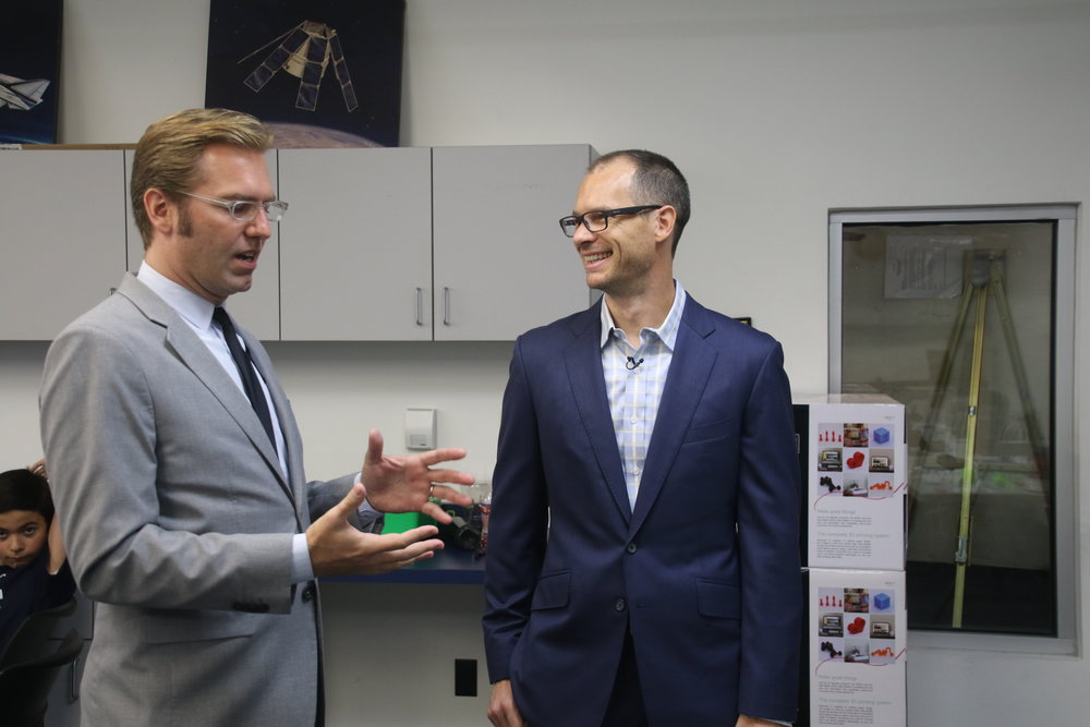 CMSC Executive Director Ben Dickow with New Matter CEO Steve Schell. Photo by Alex Dominguez