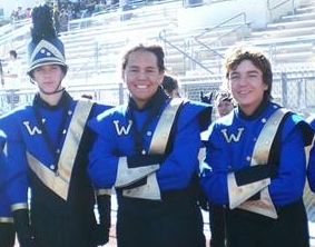 Downey Patriot Staff writer Alex Dominguez - a product of DUSD - posing with members of the Warren Band, circa 2008. Photo provided by Alex Dominguez