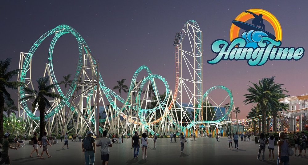 A rendering of HangTime, a new roller coaster debuting at Knott's Berry Farm. Courtesy Knott's