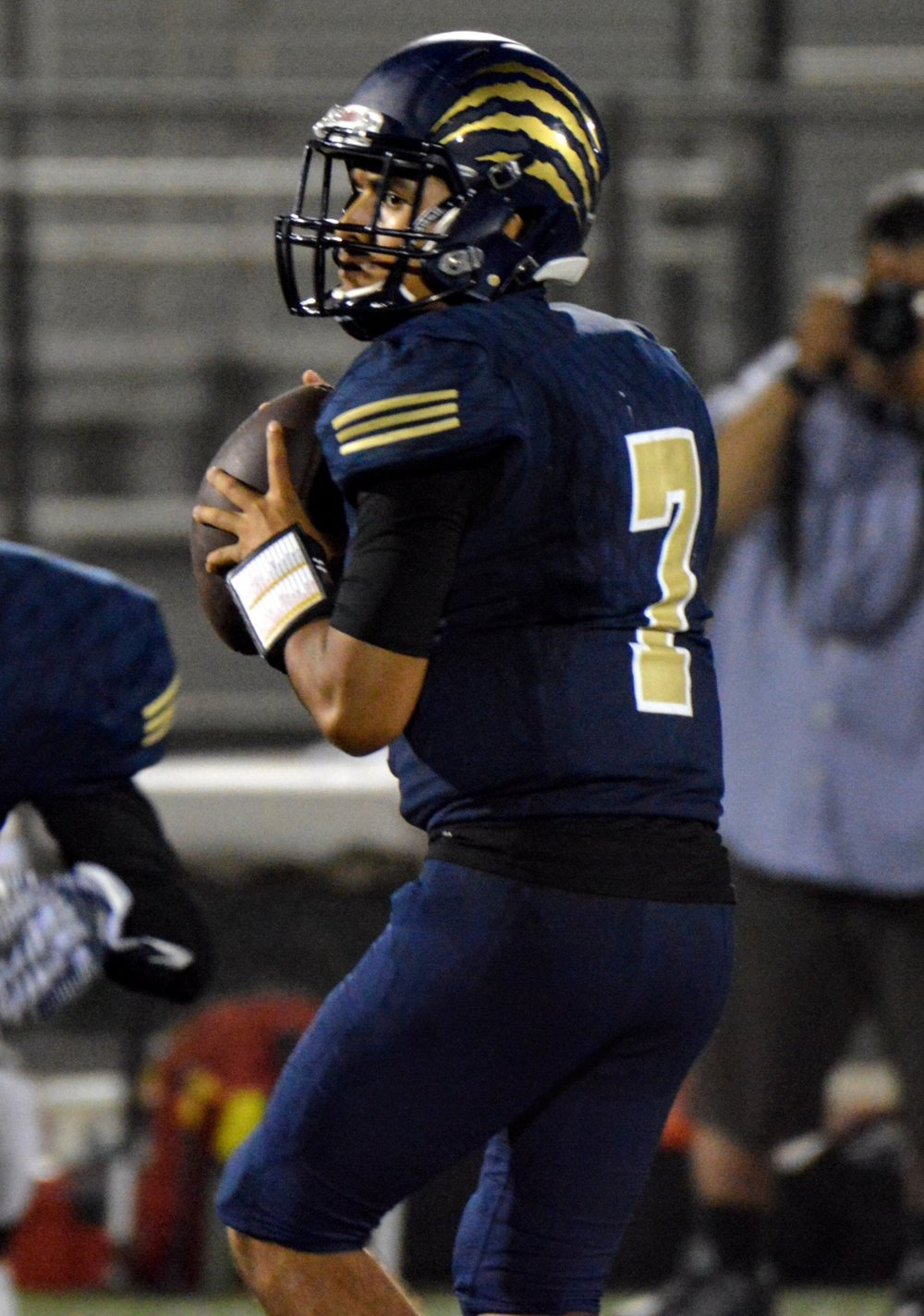 Warren High quarterback Chris Venegas threw for 296 yards and four touchdowns against Don Lugo last week. Photo courtesy Chris Venegas Sr.